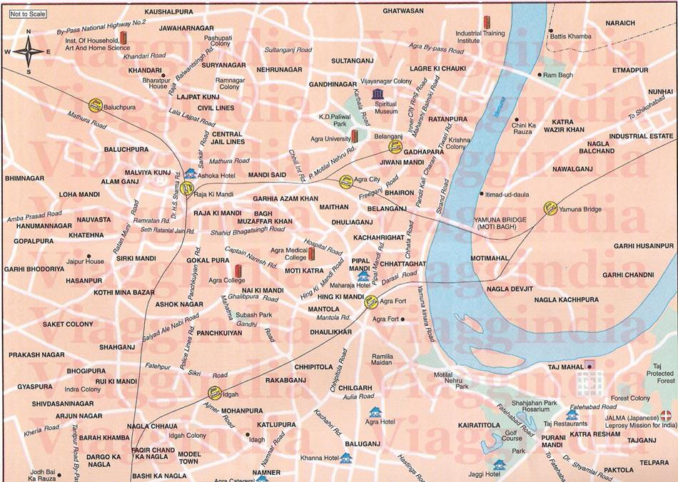 Cartina India Nord.Mappa Cartina Di Agra India