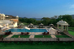Gli alberghi a Udaipur, Rajasthan in India, Hotel The Oberoi Trident