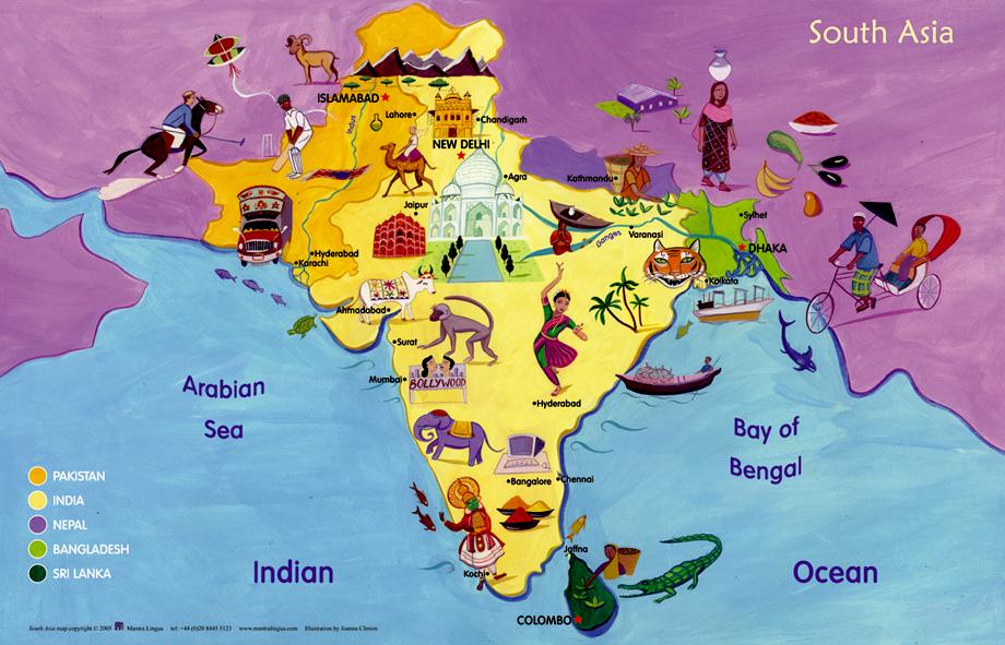 Cartina Dell India Del Nord.La Storia Dell India