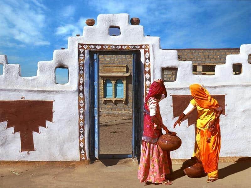 Donne di Rajasthan rurale
