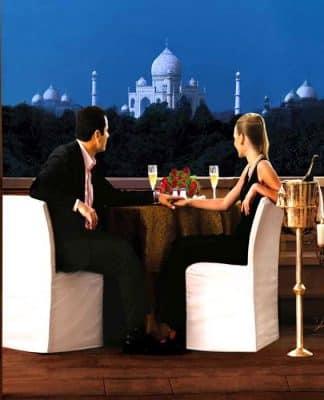 Gli alberghi ad Agra, India