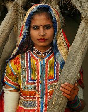 Donna tribale Dangs - Viaggio tribale in Gujarat