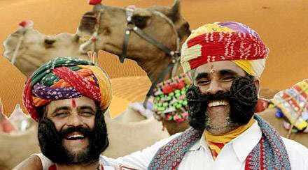 Uomini di Jaisalmer, Viaggio per la Festa del Deserto, Rajasthan