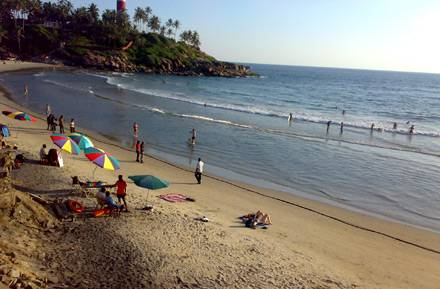 Spiaggia di Kovalam - Viaggio per la festa Onam - Kerala