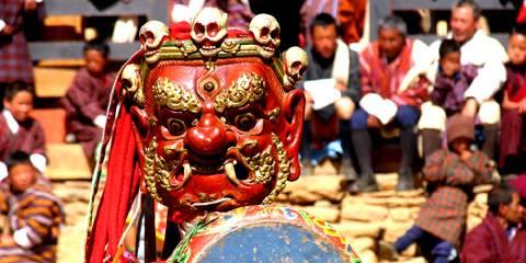 Ura festival in Bhutan, festa Tangbi Mani, Jambay Lakhang