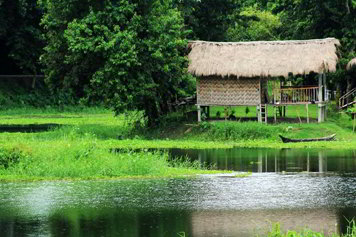 Casa bamboo all'isola di Majuli - Viaggio tribale in Assam e Meghalaya, India