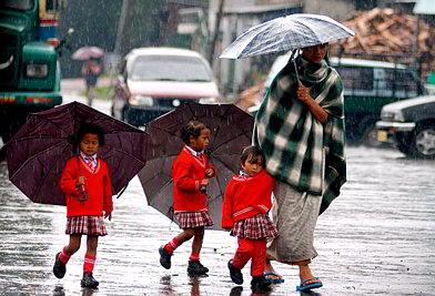 Pioggia a Cherrapunjee - Viaggio tribale in Assam e Meghalaya, India