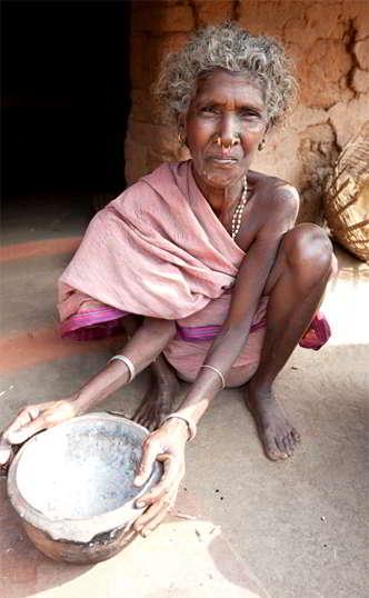 Donna tribale desia kondh - Viaggio tribale in Orissa