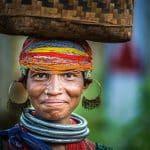 Donna tribale Bonda, Orissa - Viaggio per Rath Yatra Puri