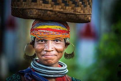 Donna tribale Bonda, Orissa - Viaggio tribale in Orissa