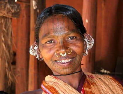 Donna tribale Kutia Kondh, Viaggio per Rath Yatra Puri, Orissa