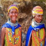 Tribale Bonda al mercato Onukudelli, Informazioni Jeypore, Orissa - India