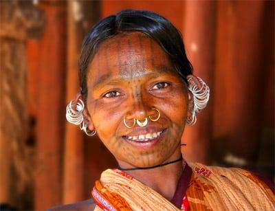Donna tribale Kutia Kondh, Informazioni Rayagada Orissa - India