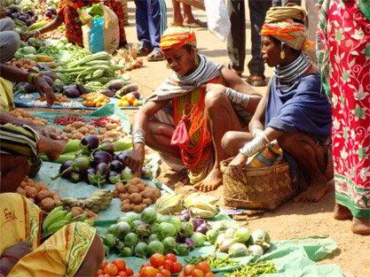 Mercato tribale a Kunduli, Orissa - Viaggio tribale in Orissa