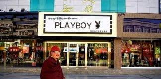 negozio playboy a Lhasa - Tibet