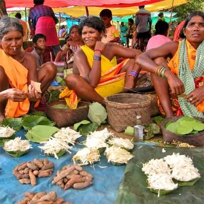 Mercato tribale di Nuageao, Informazioni Jeypore, Orissa - India