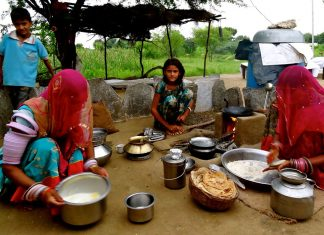 Famiglia Rajasthan rurale