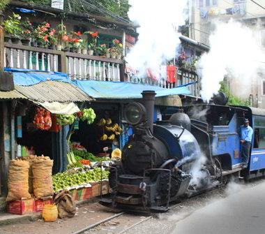 Toy train a Siliguri - Viaggio in Sikkim, India